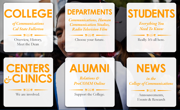 big buttons on the csuf comm website.